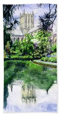 Wells Cathedral Bath Towel by John D Benson