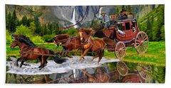 Wells Fargo Stagecoach Hand Towel by Glenn Holbrook