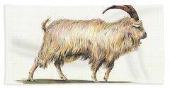 Welsh Long Hair Mountain Goat Hand Towel