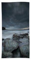 Welsh Seascape At Dusk. Bath Towel