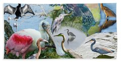 Welter Of Waterbirds Bath Towel