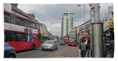 Bath Towel featuring the photograph Wembley High Road - Northwest London by Mudiama Kammoh