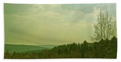 Bath Towel featuring the photograph Wendover Woods by Anne Kotan