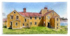 Wentworth Coolidge Mansion Watercolor Hand Towel