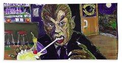 Werewolf Drinking A Pina Colada At Trader Vic's Hand Towel