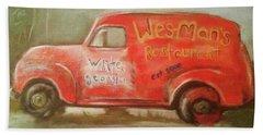 Wes Mans Truck  Bath Towel