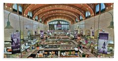 Bath Towel featuring the photograph West 25th Street Market by Frozen in Time Fine Art Photography