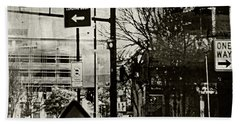 Hand Towel featuring the photograph West 7th Street by Susan Stone