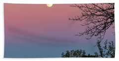 Hand Towel featuring the photograph West Brattleboro Full Moon by Tom Singleton