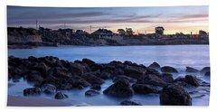 West Cliff Santa Cruz Sunrise Hand Towel