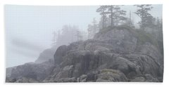 West Coast Landscape Ocean Fog I Bath Towel