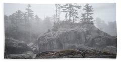 West Coast Landscape Ocean Fog IIi Hand Towel