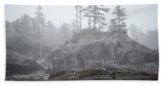 West Coast Landscape Ocean Fog IIi Bath Towel