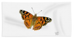 West Coast Painted Lady Butterfly  Bath Towel