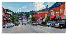 West Jefferson Streetscape Hand Towel by Dale R Carlson