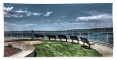 West Lake Okoboji Pier Bath Towel