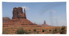 West Mitten Butte Monument Valley Bath Towel