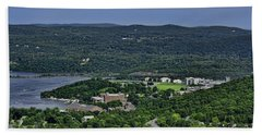 West Point From Storm King Overlook Hand Towel by Dan McManus