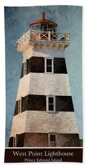 West Point Lighthouse 8 Bath Towel by WB Johnston