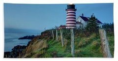 West Quoddy Head Light Bath Towel