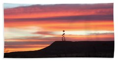 Mile Marker 122 West Texas Sunrise Hand Towel