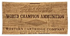 Western Ammunition Box Hand Towel by American West Legend By Olivier Le Queinec