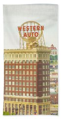 Western Auto Bath Towel by Pamela Williams