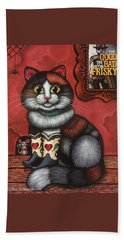 Western Boots Cat Painting Hand Towel