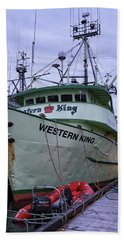 Hand Towel featuring the photograph Western King At Discovery Harbour by Randy Hall
