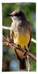 Western Kingbird Bath Towel