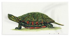 Western Painted Tortoise Bath Towel