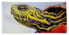Western Painted Turtle Bath Towel