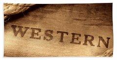 Western Stamp Branding Bath Towel