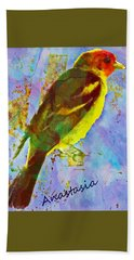 Western Tananger Mountain Birds Bath Towel