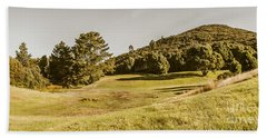 Western Tasmania Grassland Panorama Hand Towel