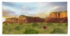 Western Whitetail Deer Hand Towel