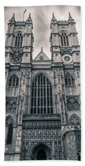 Westminister Abbey Bw Bath Towel