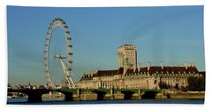 Westminster Bridge And London Eye Hand Towel