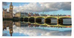 Hand Towel featuring the photograph Westminster Bridge London by Adrian Evans
