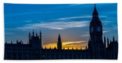 Westminster Parlament In London Golden Hour Hand Towel