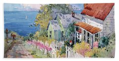 Westport By The Sea Bath Towel by Joyce Hicks