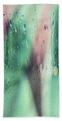 Wet Aqua Bath Towel by Allen Beilschmidt