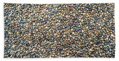 Wet Beach Stones Bath Towel