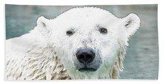 Wet Polar Bear Bath Towel