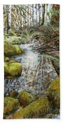 Wet Spot In Woods Bath Towel