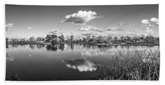 Wetlands Panorama Monochrome Bath Towel