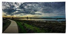 Wetlands Sunset Panorama Hand Towel