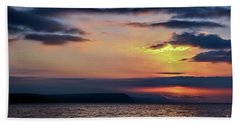 Weymouth Esplanade Sunrise Bath Towel