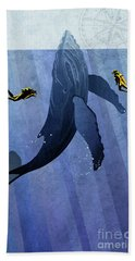 Whale Dive Hand Towel