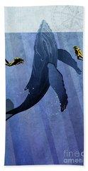 Whale Dive Bath Towel